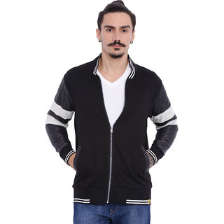 Campus Sutra Black Long Sleeve Mens Jacket