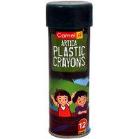 Kokuyo Camlin  Plastic Crayons                    12 Shades in Tin Box