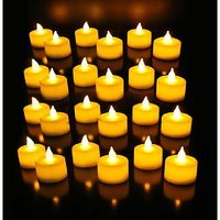 LED Set Of 24 Tea Light Candle Diwali Decorative Lights Yellow