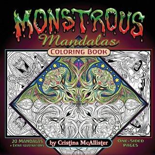 Monstrous Mandalas Coloring Book