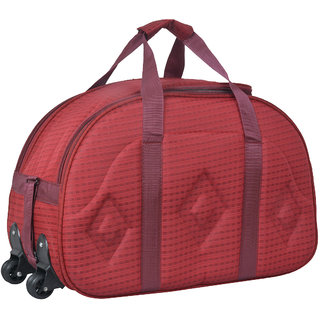 red duffle cabin luggage bag with wheels buy red duffle