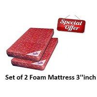bellz single  foam mattress 3''inch combo offer pack of 2