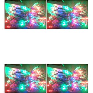 Multicolor LED Serial Light with Changer Pack of 4