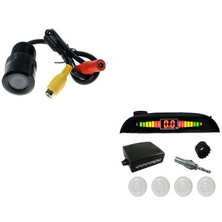 Autosky Combo of car Parking Camera + Parking Sensor for all cars