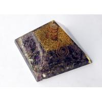 Sale! Amethyst Crown Chakra Orgonite Orgone Pyramid