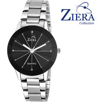 Ziera Round Dial Silver Analog Watch For Women-Zr8007