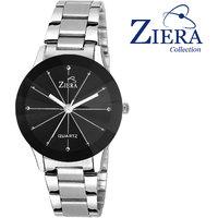 Ziera Round Dial Silver Analog Watch For Women-Zr8007