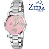 Ziera Round Dial Silver Analog Watch For Women-Zr8014