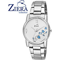 Ziera Round Dial Silver Analog Watch For Women-Zr8019