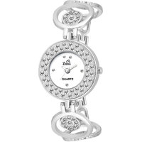 Ziera Round Dial Silver Analog Watch For Women-Zr8022