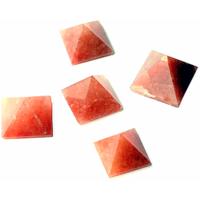 Sale! Red Aventurine Pyramids - Set Of Five