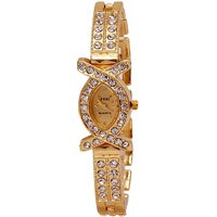Nex Gen Oval Dial Gold Analog Watch For Women
