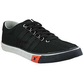 Sparx Mens Black Lace-up Smart Casuals
