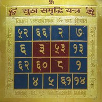 Vastu / Fang Shui Sukh Samridhi Yantra 3.25 X 3.25 Inch