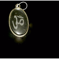 Diwali Special Sale! Clear Quartz Pendent With Om Sign Gemstone Healing Jewellery
