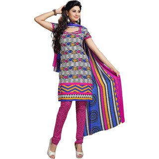 Trendz Apparels Multi Crepe Straight Fit Salwar Suit