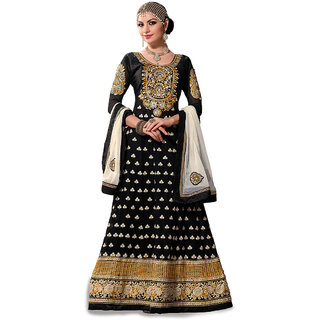 Trendz Apparels Black Pure Georgette Anarkali Suit Salwar Suit
