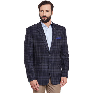 Canary London NavyGrey Acrylic Men's Casual Single Breasted Blazer