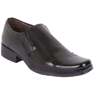 Look  Me Black Synthetic Leather Men Formal Shoes