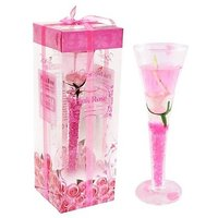 Pink Decorative Glass Gel Candle