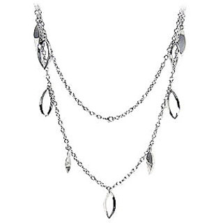 Stainless Steel Open Solid Oval Twist Necklace With Immerse Plating