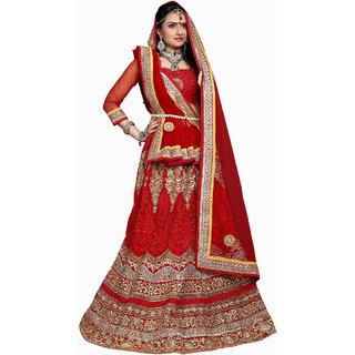 Awesome Bridal Embroidery Red Color Lahenga Choli