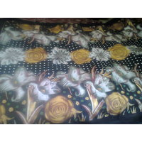 Jaipuri Print Single Bed Sheet With Flower Print