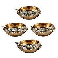 Indian Puja Brass Oil Lamp(Diameter - 3 Inch)