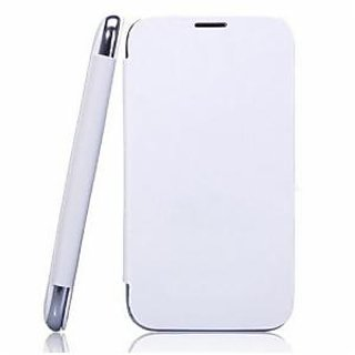 White Flip Cover Of Mobile Karbonn Titanium S5 Plus Free Shipping available at ShopClues for Rs.249