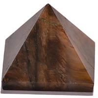 Diwali Special Sale! Tiger Eye Pyramid - Set Of 5 Pyramids - 22-30 MM Each