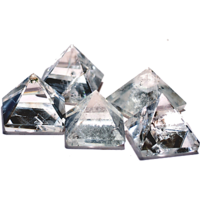 Diwali Special Sale! Clear Quartz Pyramid Set Of 5 For Point Healing, Crystal Healing  Feng Shui