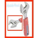 "10"" Length Metal Adjustable Spanner Rubber Handle"