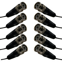 PUFFIN HIGH QUALITY BNC Connectors(Gold) For CCTV Camera, Pack Of 10 Pcs. Connectors