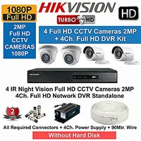 HIKVISION Full HD (2MP) 4CCTV Cameras  4Ch.Full HD DVR Kit (All Accessories)