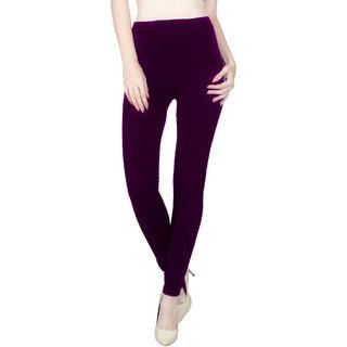 Vloria Polyester Women Purple Leggings