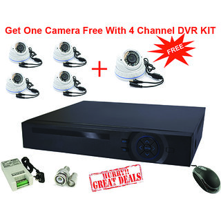 one camera FREE with 4 channel DVR kit in 1 megapixel (720P)  resolution