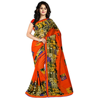 Grihlaxmi Orange Georgette