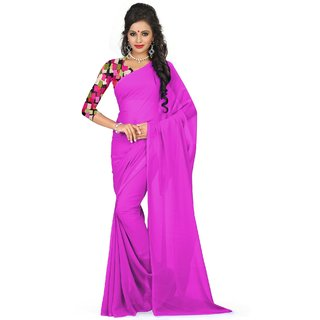 sudarshansilk Pink Georgette