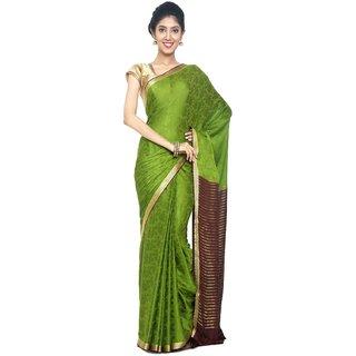 sudarshansilk Green Synthetic