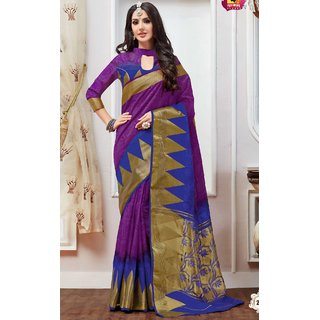 sudarshansilk Purple Raw Silk