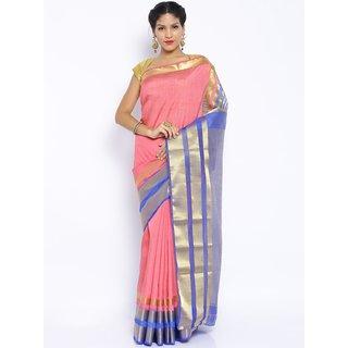 sudarshansilk Pink Raw Silk