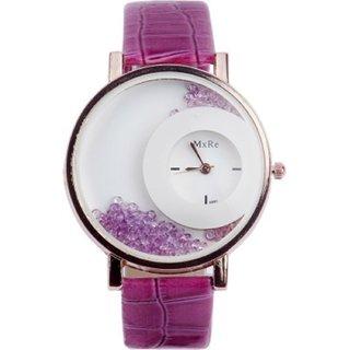 Mxre Fashion Purple Diamond Dial Leather women watches