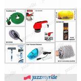 Combo Of Water Gun, Car Polisher, Car Duster, Formula 1 Wax Polish, 3 In 1 Wiper, F1 Dashboard Spray, Gloves, Vacuum Cleaner.
