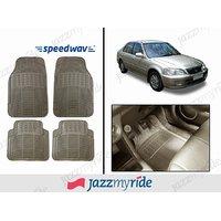 Speedwav Beige Rubber Car Floor / Foot Mats - Honda City Old 1.5