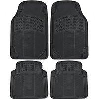 AutoSun Black Rubber Floor / Foot Maruti Swift Old Car Mat Maruti Swift (Black)