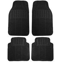 Motoway Rubber Floor/Foot Car Mat Maruti Swift Dzire (Black)