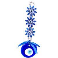 Nazar Suraksha Kavach Door Wall Car Hanging Eye Catching Evil Eye Amulet-Blue Flower