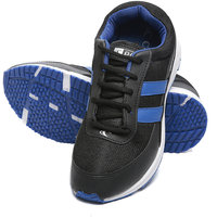 Combit Black And Royal Blue Sport Shoes For Men