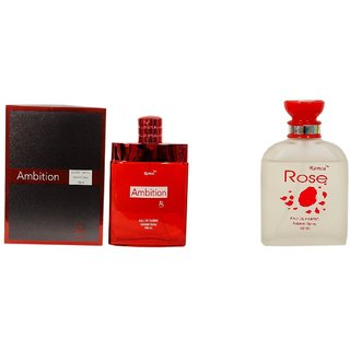 Ramco Exotic Ambition and Rose Combo Perfume 100ML+100ML