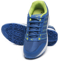 Combit Royal Blue And Green Sport Shoes For Men